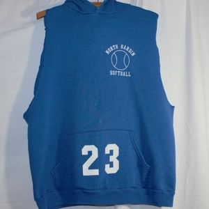 Russell Athletic Large Blue Distressed Hoodie
